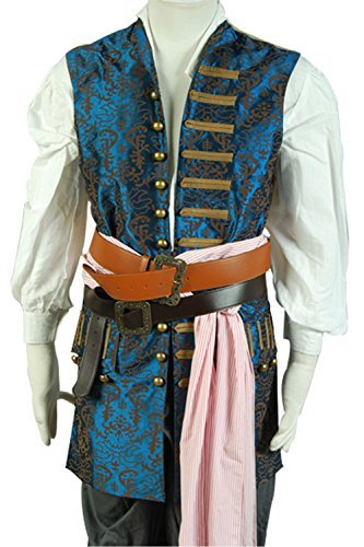 mingL Captain Jack Sparrow Halloween Cosplay Costume Outfit Full Suit Old Version (Custom Made, New Version) by mingL (Image #1)
