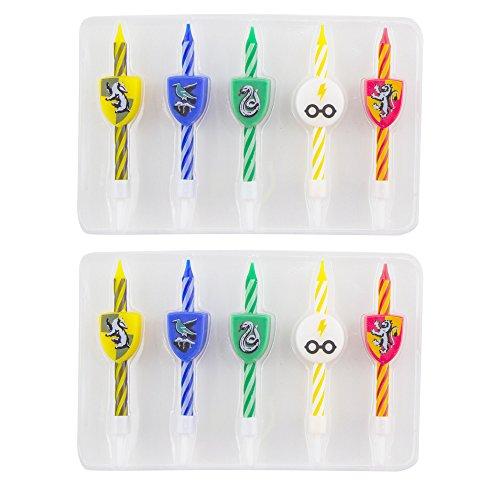 Cinereplicas Harry Potter Velas - Oficial - Set 10 - Cumpleaños - Pastelería