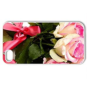 RosCase For Sumsung Galaxy S4 I9500 Cover (Flowers Series, Watercolor style, White)