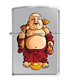 Zippo Lighter - Laughing Buddha Classic Polished Chrome