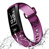 watch for high blood pressure - RAFERIAM Smart Bracelet Watch Bluetooth Wireless Smart Fitness Wrist Watches Tracker Blood Pressure Heart Rate Monitor For Iphone Android (Purple)