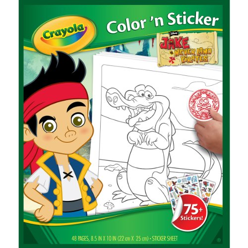 Crayola Jake and The Neverland Pirates Color 'n Sticker Books]()