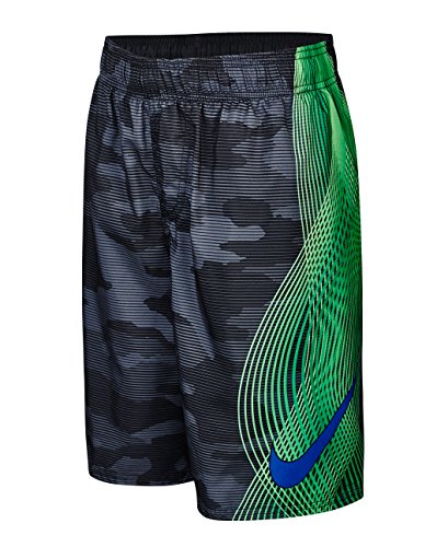 Nike Boy's Camotion Wave Volley Swim Trunks L Black