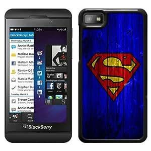 Blue Wood Superman Logo BlackHigh Quality Custom Blackberry Z10 Protective Phone Case