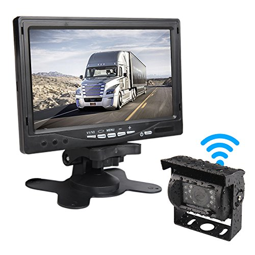 CAR ROVER Wireless Backup Rear View Camera Monitor Kit with 7