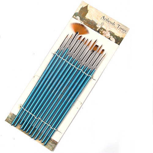 Fine Detail Paint Brush Set -12 Miniature Brushes for Detail