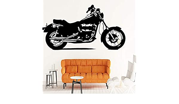 Vieux Style Moto Motif Sticker Mural pour Salon Chambre Sticker ...