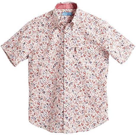 [MAJUN (マジュン)] 国産シャツ かりゆしウェア アロハシャツ 結婚式 メンズ 半袖シャツ ボタンダウン プロナチュール