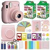 Fujifilm Instax Mini 11 - Funda de transporte compatible con cámara instantánea (incluye funda de transporte para cámara Fuji Instax (40 hojas), color rosa