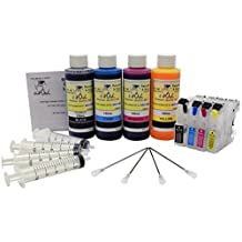InkOwl® - Refillable Cartridges for BROTHER LC201, LC203, LC205, LC207, LC209 + auto-reset chips + 4x120ml ink + syringes