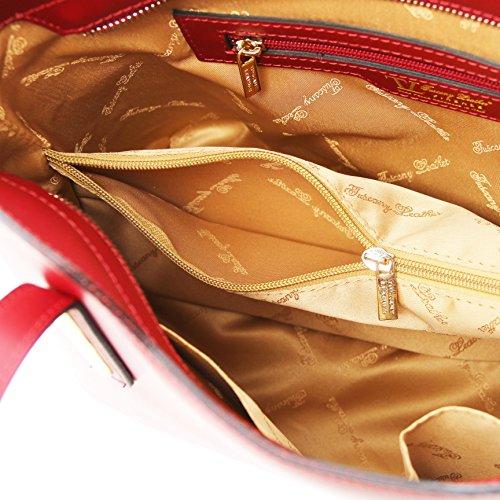 81414124 - TUSCANY LEATHER: OLIMPIA - Sac cabas en cuir Ruga, Rouge