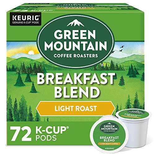 Green Mountain Coffee Roasters Breakfast Blend, Single-Serve Keurig Ok-Cup Pods, Light Roast Coffee, 72 Count