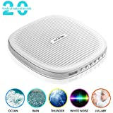 White Noise Machine for Sleeping, FAMIROSA Sleep Sound Machines for Baby Kids Adults Office Privacy, Rechargeable Sound Therapy Machines with Natural Wind, Ocean Sound Effects