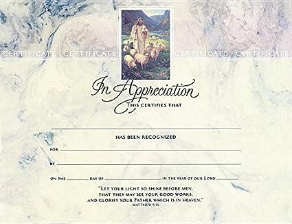 amazon com certificate appreciation bi fold package of 6