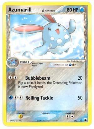 Pokemon - Azumarill δ (19) - EX Delta Species - Reverse Holofoil