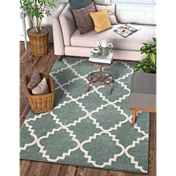 Harbor Trellis Ivory Quatrefoil Geometric Patterned Easy to Clean Stain Fade Resistant Shed Free Contemporary Traditional Moroccan Lattice Soft Living Dining Room Rug