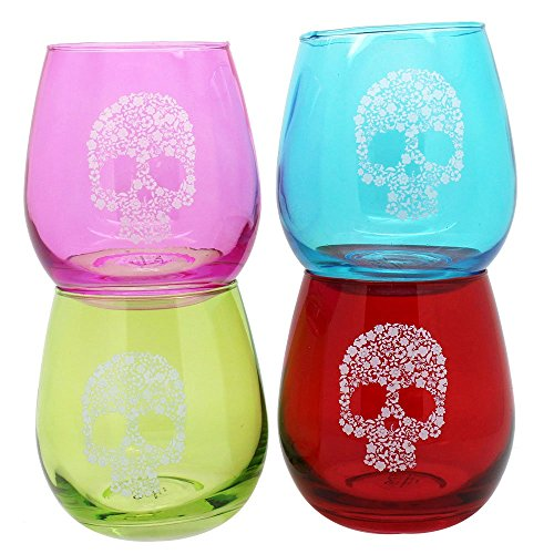 TMD Holdings Flower Candy Skull Stemless