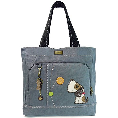 Chala Canvas Pocket Tote with Toffy Dog - ()