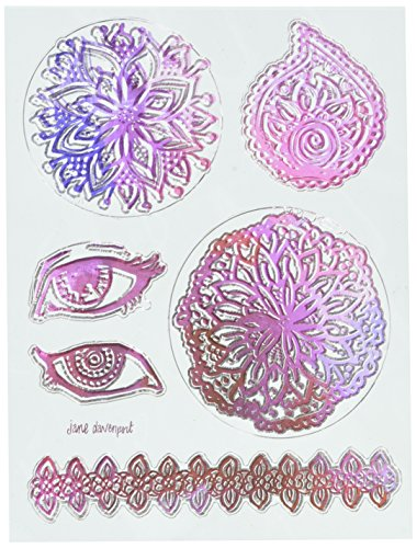 American Crafts 6/Pkg Jane Davenport Mixed Media 2 Acrylic Stamps, None