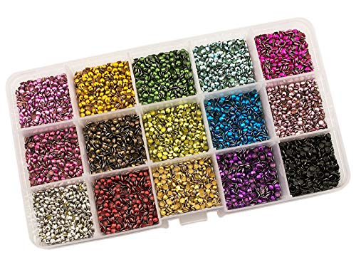 Summer-Ray SS10 2.8mm Assorted Color Hot Fix Rhinestuds In Storage Box ()