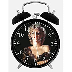 Marilyn Monroe Twin Bells Alarm Desk Clock 4 Home Office Decor F02 Nice for Gifts