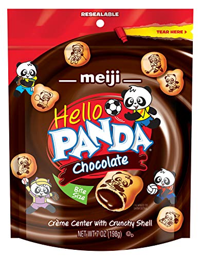 Creme Filled Chocolate Cookies - Meiji  Hello Panda Cookie, Chocolate Pouch, 7 Ounce (Pack of 6)