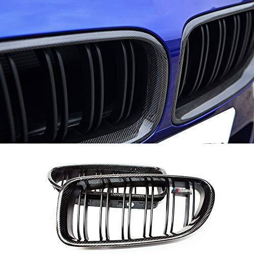 Fandixin F06 Grille, Carbon Fiber Front Kidney Grill Front Bumper Hood Grill for BMW 6 Series F06 F12 F13 640i 650i 640d