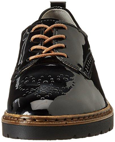 Jenny 22-50014, Zapatos de Cordones Derby Mujer Negro (Schwarz)