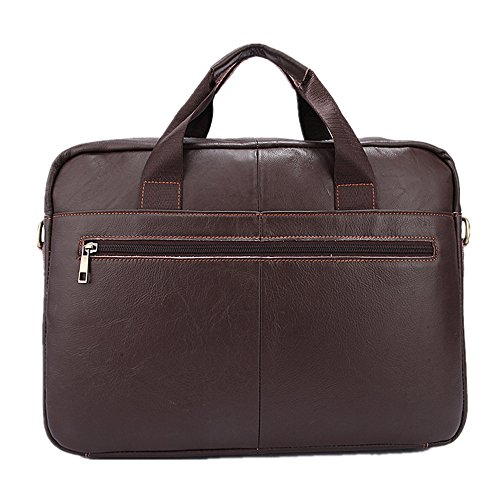 For Notebook Bags Suitable Men's First Layer Business Qi Briefcases Men's Vintage Casual Business Satchel Bags Leisure Handbags Briefcase Bags Cowhide Leather Znq41Aw