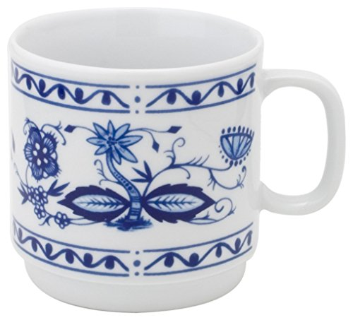 KAHLA Onion Pattern, Mug polished and glazed rim, 10-1/4 oz, Rossella Color, 1 Piece