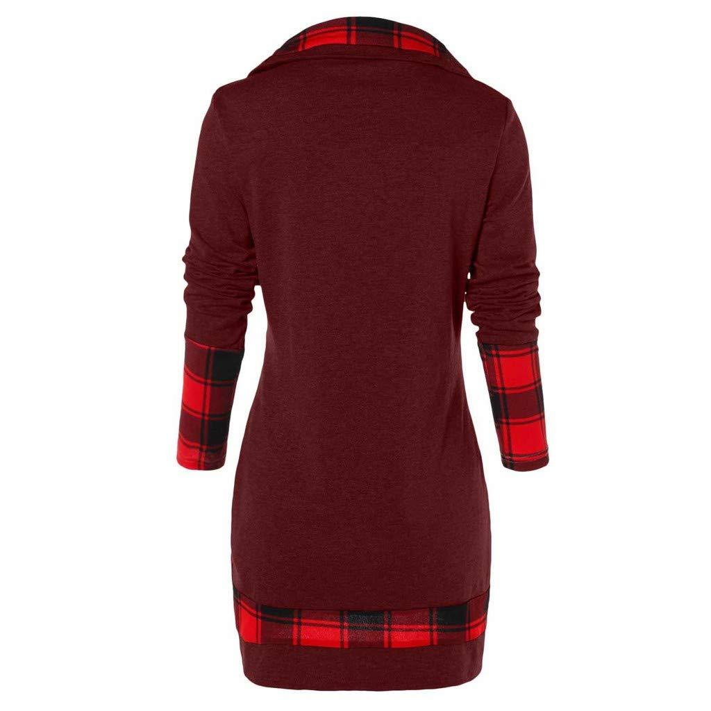Felpe Donna Maglione Moda Maglietta Maglia Tartan Cappotti Felpa Maglioni Tuta Ragazza Invernali Elegante Felpe Tumblr Pullover Camicia Maglietta Pullover Sweatshirt Abbigliamento