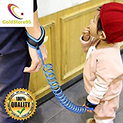 (GoldStore95) Anti Lost Wrist Link - Safety Harness, Strap Rope Leash Walking Hand Belt - Safety Harness for Toddlers, Babies & Kids Safety (Blue-1,5m)