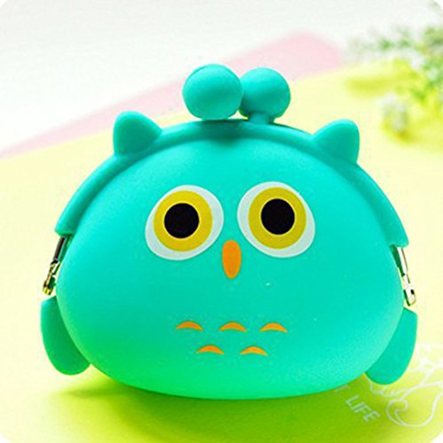Lovely Mini Candy Color Cartoon Animal Women Wallet Multicolor Jelly Silicone Coin Bag Purse Kid Gift,owl Lovely Coin Bag