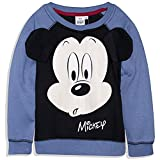 Disney Mickey Mouse Boys Sweatshirt Warm Fleece Jumper Jacket - Blue 3