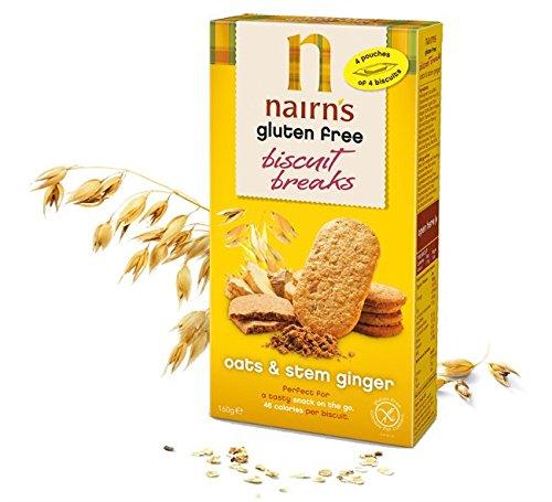 Nairns Gluten Free Stem Ginger Biscuit Break 160g - 3 Pack by Nairns