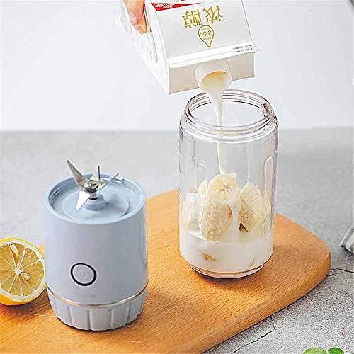 Tbaobei-Baby Mélangeur Portable Multifonction Juicer USB Rechargeable Smoothie Blender Blender Fruits Aliments for Enfants (Color : Blue, Size : One Size)