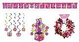 ShoppeShare Rainbow Butterfly Kids Sparkle Birthday Party Decorations 4 Piece Bundle