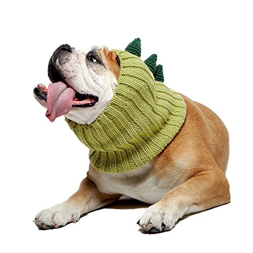 (Zoo Snoods Dinosaur Dog Costume - Neck and Ear Warmer Headband for Pets)