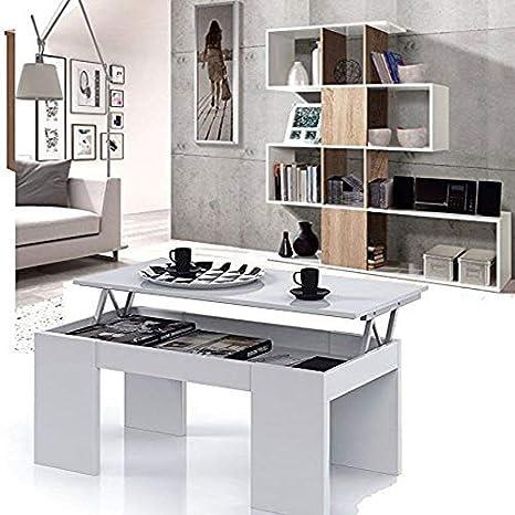 HABITMOBEL Conjunto Salon Estantería librería + Mesa de Centro ...