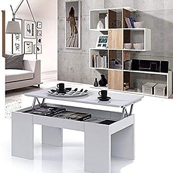 HABITMOBEL Conjunto Salon Estantería librería + Mesa de ...