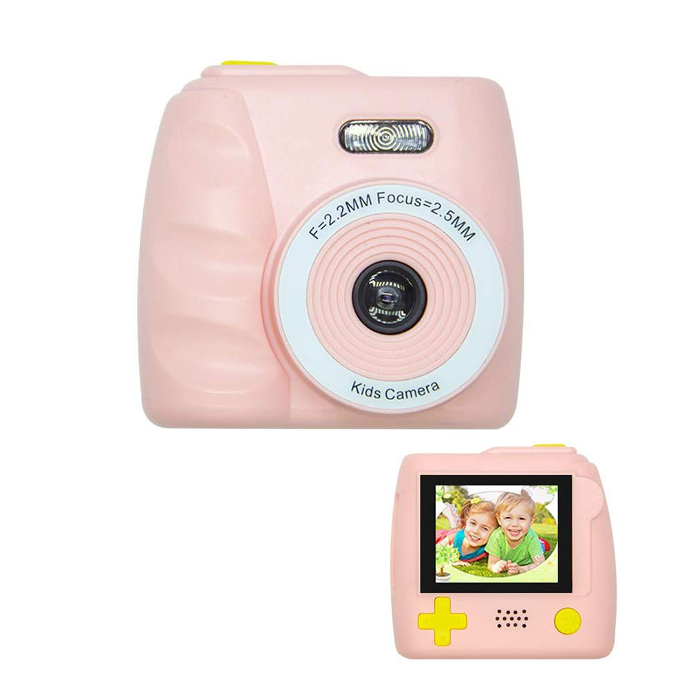 EDIONS Kids Cameras for Girls Boys Gifts, 720P HD Shockproof Kids Digital Cameras Photo Video Camcorder MP3 Player Games, Mini Rechargeable Camera for Children 3-14 Years Old(Pink) by EDIONS (Image #1)