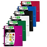 Five Star Flex NoteBinder, 1.5-Inch Capacity, 11.5 x 11.25 Inches, Notebook and Binder All-in-One, Assorted Colors, 6 Pack