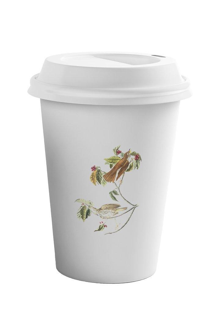 Style In Print Wood Thrush James Audubon Birds Coffee Ceramic Travel Tumbler Mug 11oz