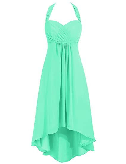 c5e1931a1c Cdress Chiffon High Low Bridesmaid Dresses Halter Sweetheart Evening ...
