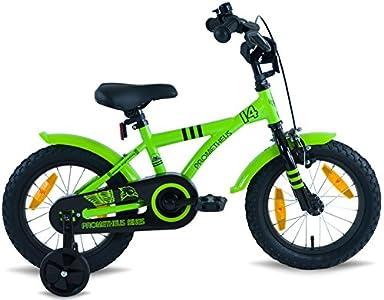 prometheus bicycles prometheus kinderfahrrad 14 zoll jungen und m dchen in gr n schwarz mit. Black Bedroom Furniture Sets. Home Design Ideas