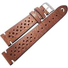 Fluco Hunter Racing 22mm Tobacco Leather Watch Strap