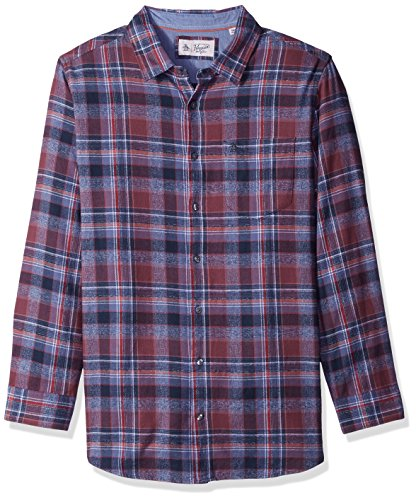 Original Penguin Mens Big and Tall Twisted Yarn Flannel