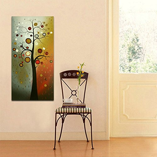 Wieco Art Life Tree Large Floral Oil Paintings on Canvas Wall Art Ready to Hang for Living Room Bedroom Home Decorations Modern 100% Hand Painted Stretched and Framed Grace Abstract Flowers Artwork