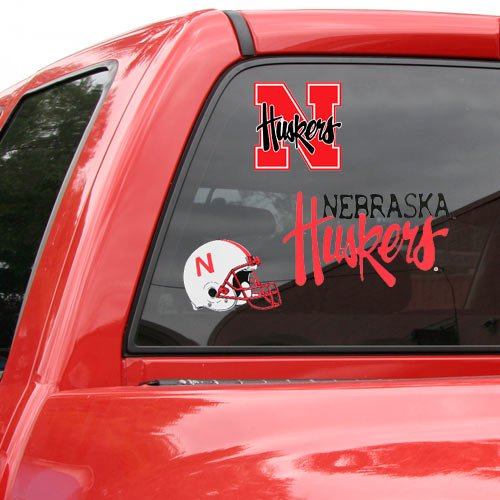 Ultra Ncaa Decal (WinCraft NCAA Nebraska Cornhuskers Ultra Decal Sheet, 11