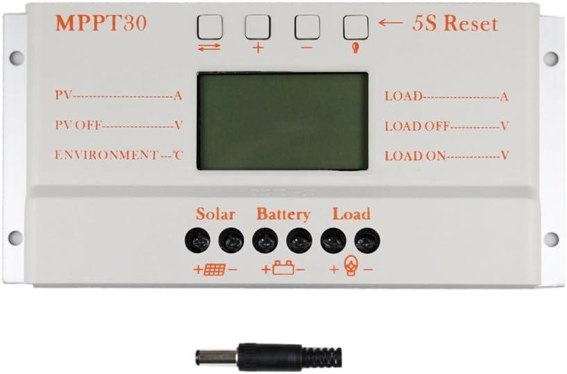 Y/&H LCD PWM Solar regolatore di Carica 30A 12 v 24 v auto interruttore display LCD MPPT30 regolatore di carica Solare MPPT 30 regolatore di carica